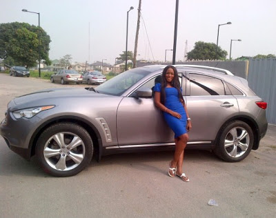 Linda Ikeji buys 8 million Naira Infinity FX 35 Jeep