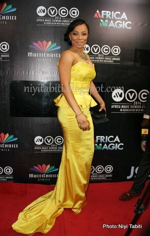 AMVCA 2014:Toke Makinwa Came, Of Course In April By Kunbi