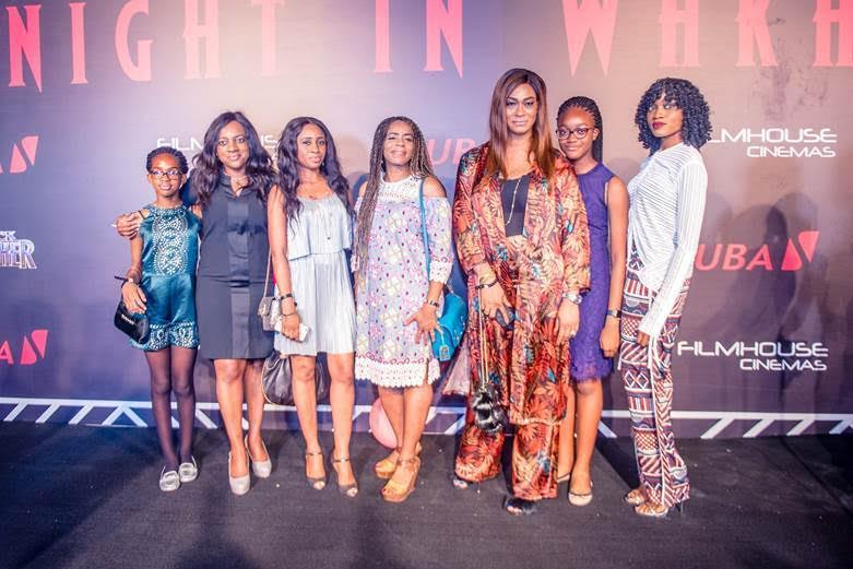 Lotanna Kennedy, wife of Kennedy Uzoka, Uzo Oshogwe, Managing Director of Afriland Properties Plc with their children and friends