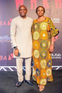 Tony Elumelu wife Awele at Black Panter Premiere
