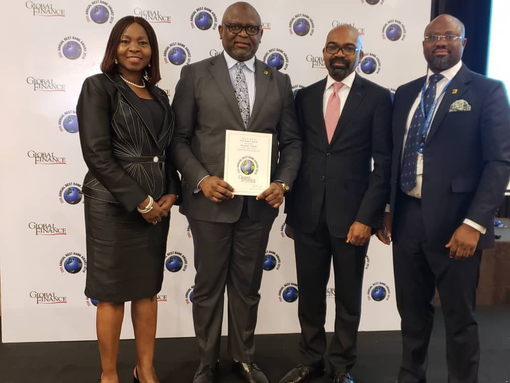First Bank wins Best Bank in Nigeria at Global Finance Award 2018