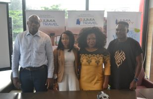 from Left to Right: Guy Futi, Managing Director, Jumia Food, Chioma Odimegwu, Head of Marketing and Vendor Success, Jumia Food and Jumia Party Nigeria, Omolara Adagunodo, Managing Director, Jumia Travel & Olukayode Kolawole, Head Public Relations, Jumia