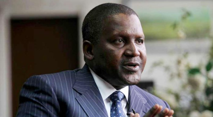 Dangote Now 64th Richest Person in the world