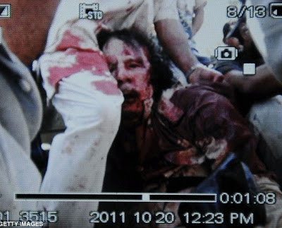 GADAFFI CAPTURED, DIED FROM WOUNDS+THE MAN WHO SHOT GADDAFI