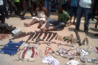 POLICE ARREST KIDNAPPERS WITH SOPHISTICATED WEAPONS
