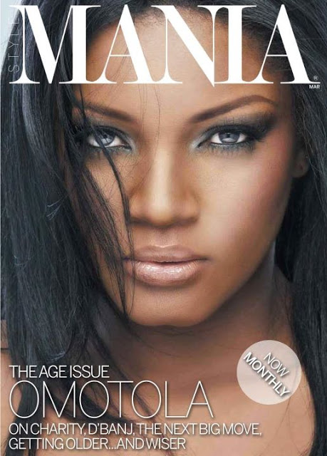OMOTOLA COVERS MANIA MAGAZINE MARCH COVER