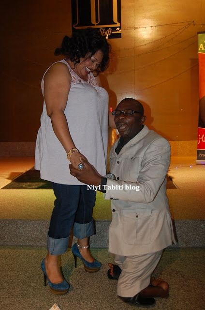 CAUGHT IN THE ACT: ACTRESS JENNIFER ELIOGU GETTING A MARRIAGE PROPOSAL?