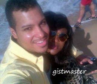 AT LAST:PHOTO OF UCHE JOMBO AND HUSBAND,KENNEY RODRIGUEZ