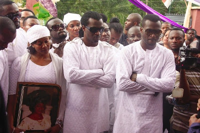 Photos from Psquare mum's burial in Anambra State