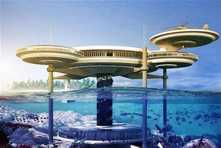 Dubai Underwater Hotel in progress