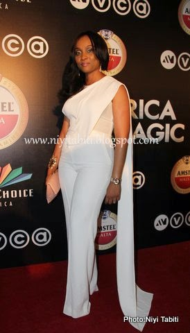 Ifeoma Williams Look Divine in Ellie Saab at Africa Movie Viewers Choice Award