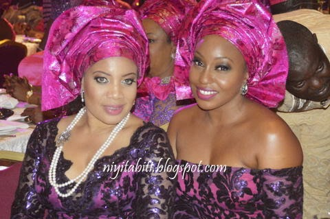 No more fight! Nollywood's Monalisa Chinda and Rita Dominic Hanging out at Ita Giwa Daughter's wedding