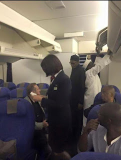 Photo: Buhari on his way from UK