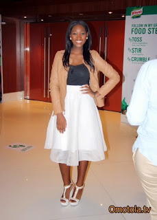 When Omotola's daughter told Gistmaster she wanted to be a model, she was not Joking,she is now a knorr ambassador