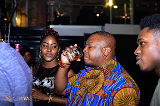 When Chivas Regal,world's first luxury whisky hosted Olisa Adibua at Club Quilox
