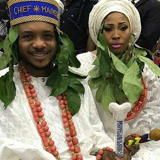 Shina Peller,wife bagged chieftaincy title