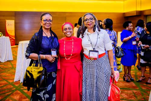 Three women who are chairman of three banks in Nigeria. Osaretin Demuren of GTBANK,Belo-Olusoga of Access Bank and Ibukun Awosika of First Bank Nigeria