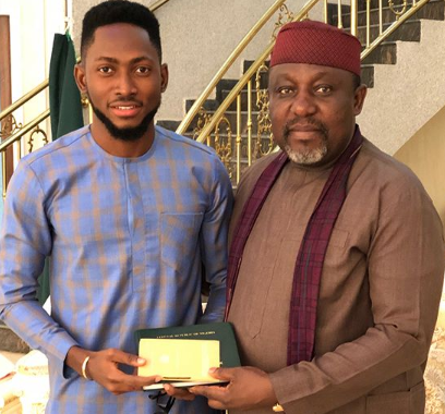 BBN's Miracle Presents Pilot license to Okorocha