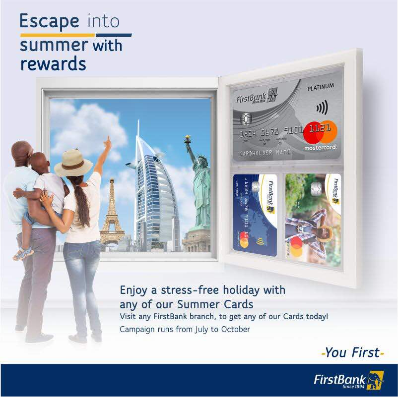 GET THE ACCOLADES YOU DESERVE WITH FIRSTBANK MASTER CARD!