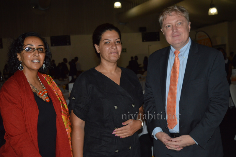 Hobete Arefeaine,Noha Shaker and John Fisher at the Accion Microfinance Bank Financial Inclusion Seminar