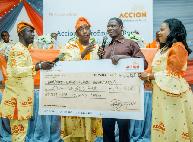 Accion Microfinance Bank donate cash,generators to customers living with disabilities