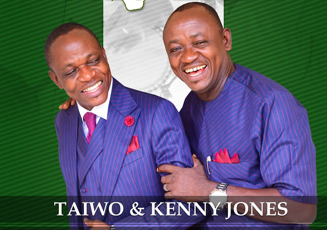 Taiwo and Kenny Jones Praise with the twins